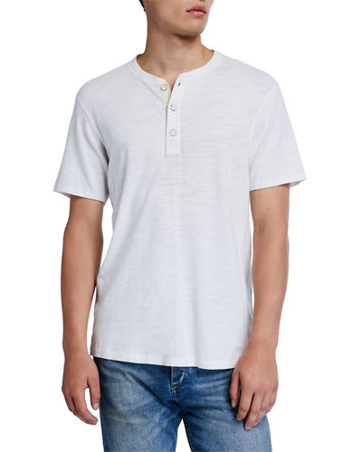 Rag & Bone Standard Issue Short-Sleeve Henley T-Shirt