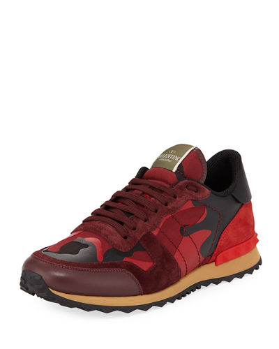 valentino garavani men 39 s rockrunner camo sneaker. Black Bedroom Furniture Sets. Home Design Ideas