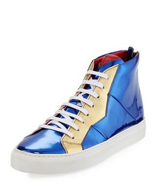 Vidar Mirror Patent Leather High-Top Sneaker