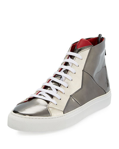 Anonyme-Paris Vidar Mirror Patent Leather High-Top Sneaker