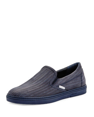 Jimmy Choo Grove Men's Woven Leather Slip-On Sneaker