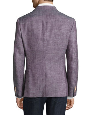 Image 2 of 4: Mélange Two-Button Blazer