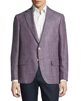 Image 3 of 4: Mélange Two-Button Blazer
