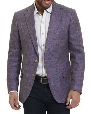 Image 1 of 4: Mélange Two-Button Blazer