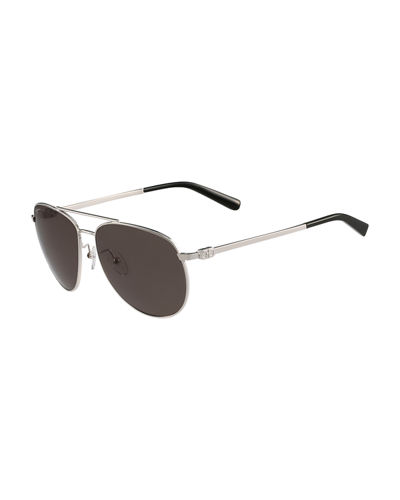 Men's Gancio Metal Aviator Sunglasses