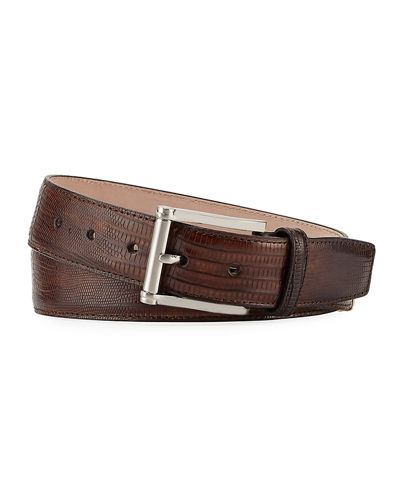 Lizard Square-Buckle Belt