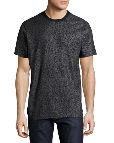 Gatrik Crackled Crewneck T-Shirt