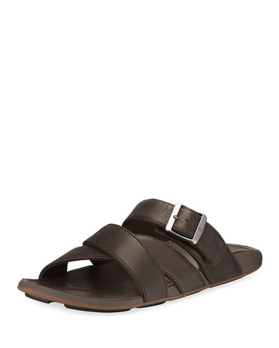 Olukai Kaupe'a Leather Slide Sandal