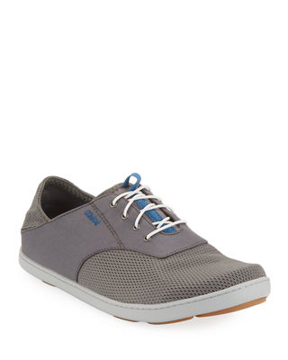 OLUKAI Men'S Nohea Moku Boat Shoe in Fog/ Charcoal