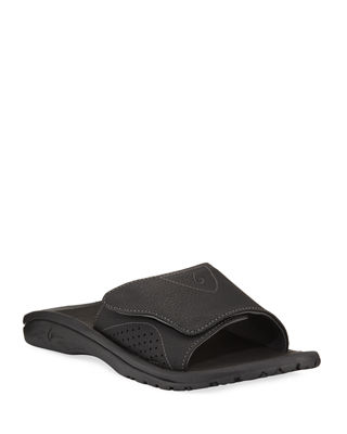 Image 1 of 3: Nalu Grip-Strap Slide Sandal, Black
