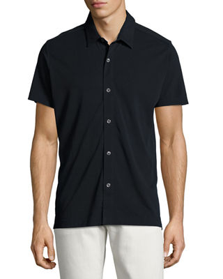 Aden S. Air Piqué Short-Sleeve Shirt