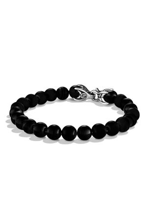 David Yurman Men's Spiritual Beads Bracelet with Black Onyx, 8mm