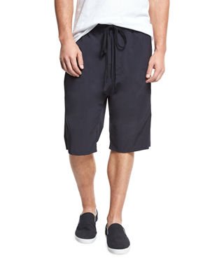 Athletic Drop-Rise Stretch-Nylon Shorts