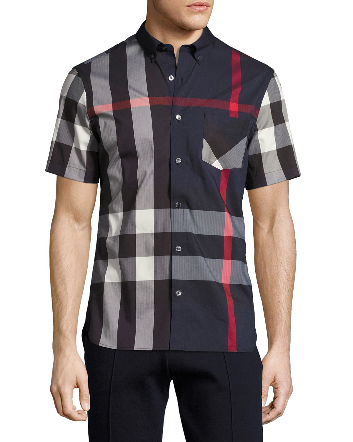 Thornaby Short-Sleeve Check Sport Shirt