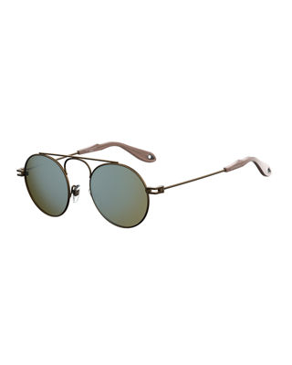 Givenchy Men's GV 7054 Small Round Sunglasses