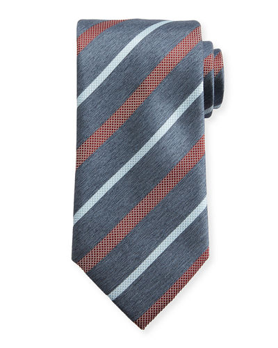 Brioni Textured Multi-Stripe Tie