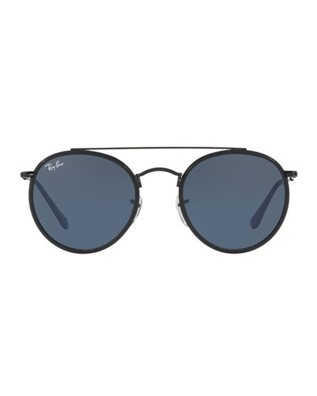 Image 3 of 3: Ray-Ban Men's RB3647 Round Double-Bridge Sunglasses