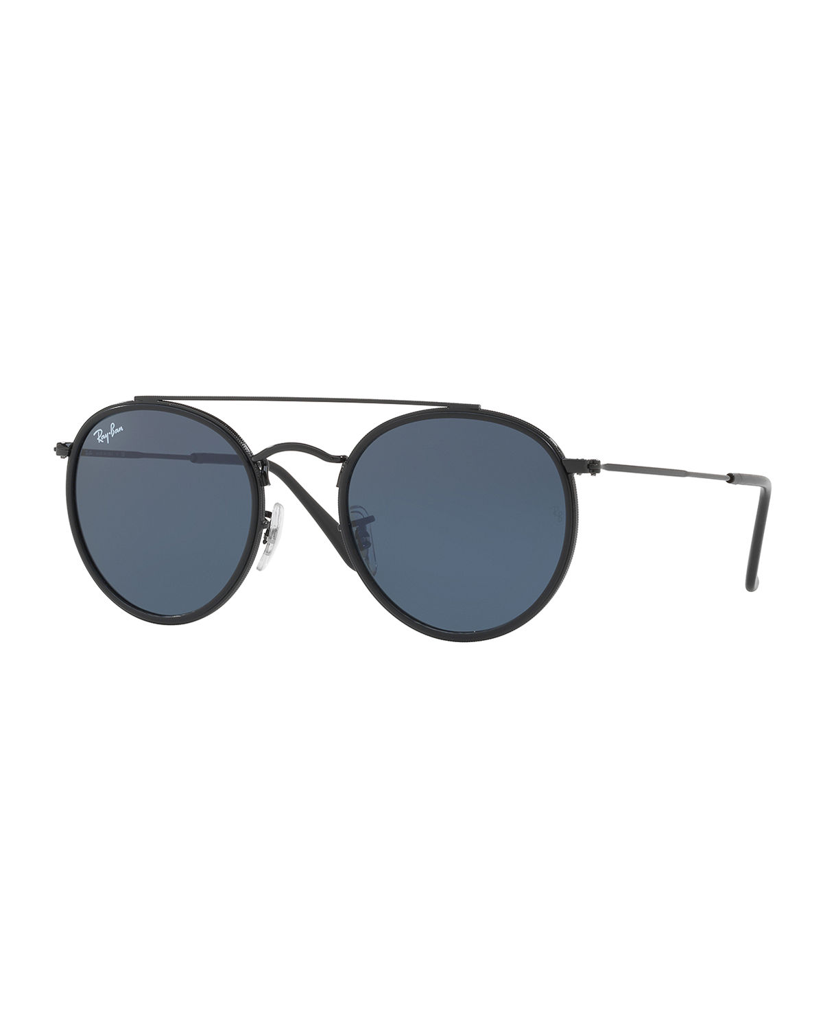 f75560a2cbfdd Ray-Ban Men s RB3647 Round Double-Bridge Sunglasses