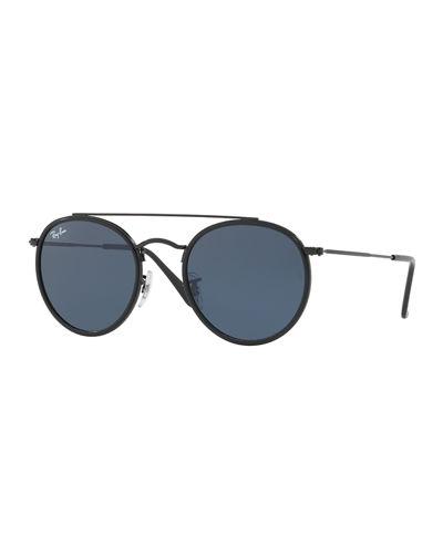 Ray-Ban Men's RB3647 Round Double-Bridge Sunglasses