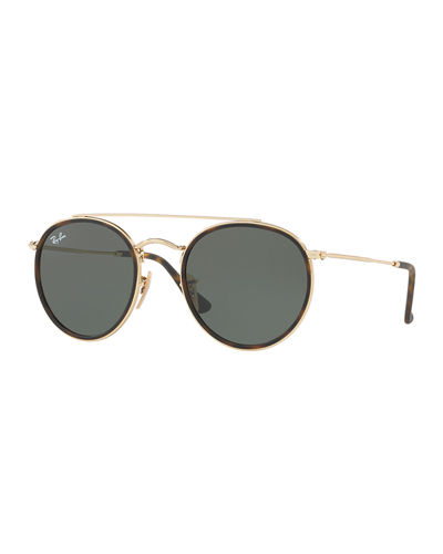 032bb2f9afb40 Quick Look. Ray-Ban · Men s RB3647 Round Double-Bridge Sunglasses