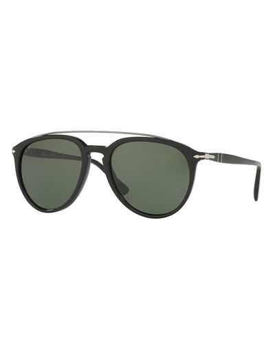 Persol Reflex Edition PO3159S Mirrored Pilot Sunglasses