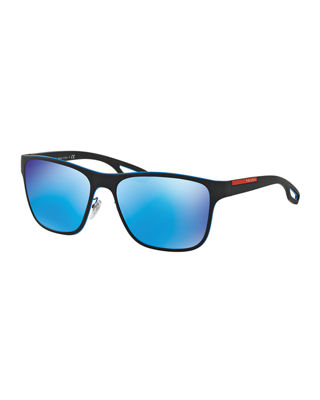 Prada Linea Rossa Men's Rectangular Sunglasses