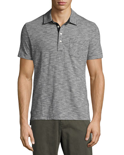 Ombre Striped Polo Shirt