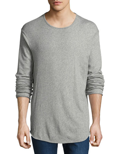 Rag & Bone Hartley Long-Sleeve Linen T-Shirt