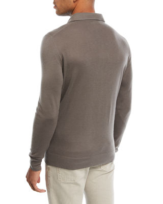 Image 2 of 2: Superlight Baby Cashmere Long-Sleeve Polo Shirt