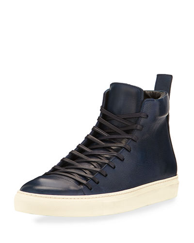 315 Reed Leather Mid-Top Sneaker