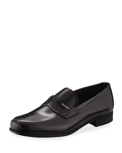 Prada Calf Leather Slip-On Loafer