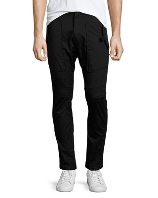 Stretch Cotton Utility Trousers