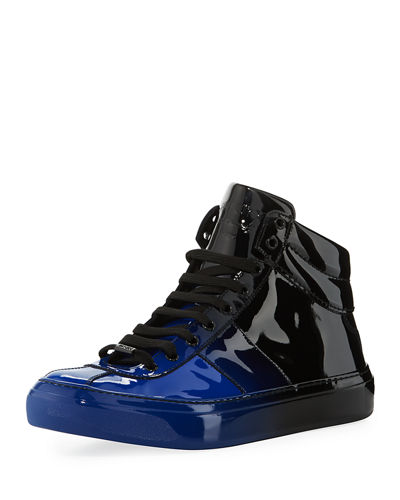 Belgravia Men's Dégradé Patent Leather High-Top Sneaker