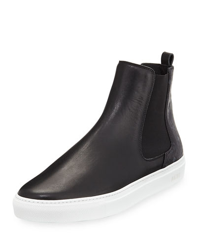 MCM Visetos & Leather Chelsea Boot and Matching