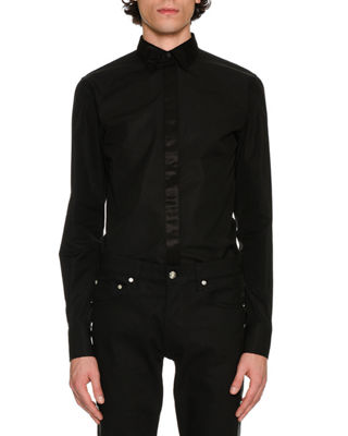 Image 1 of 4: Contrast-Placket Woven Shirt