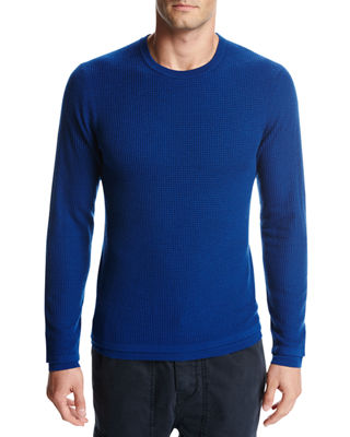 Image 1 of 2: Double-Layer Wool Crewneck Sweater