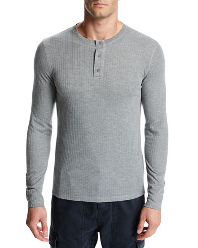 Vince Flat-Back Ribbed Henley T-Shirt and Matching Items