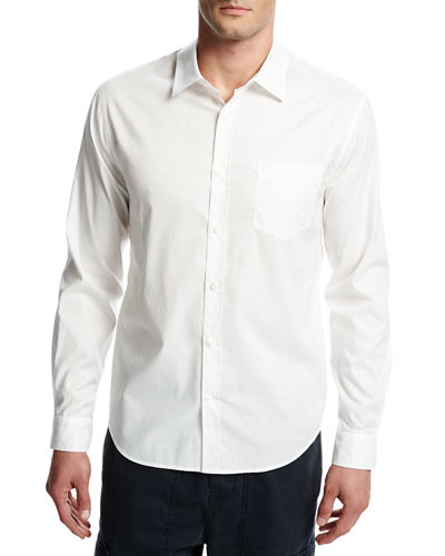 Single-Pocket Cotton Sport Shirt
