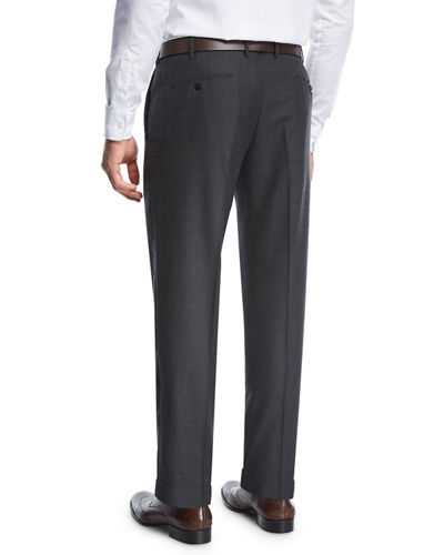 Micro-Jacquard Super 130's Wool Trousers