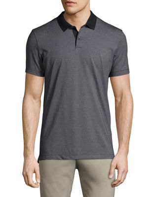Image 1 of 3: Sandhurst Dotted-Stripe Polo Shirt