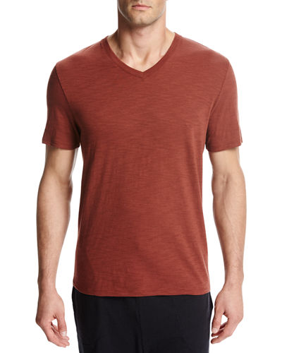 Slub V-Neck T-Shirt