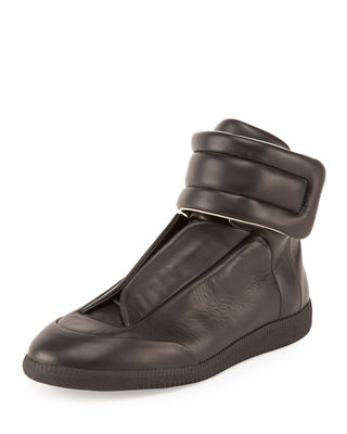 Maison Margiela Men's Future Leather High-Top Sneaker