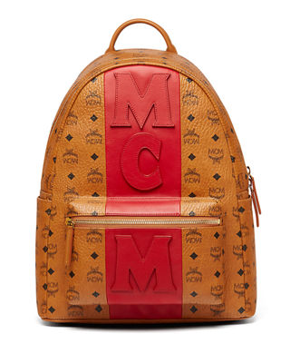 MCM Stark Stripe Visetos Backpack