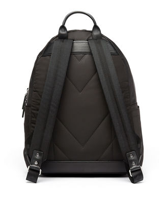 Image 4 of 4: Dieter Monogramed Canvas Backpack