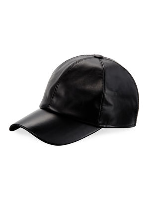 Calf Leather Baseball Cap