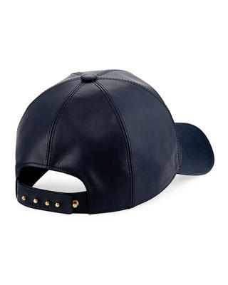 Image 2 of 2: Calf Leather Baseball Cap