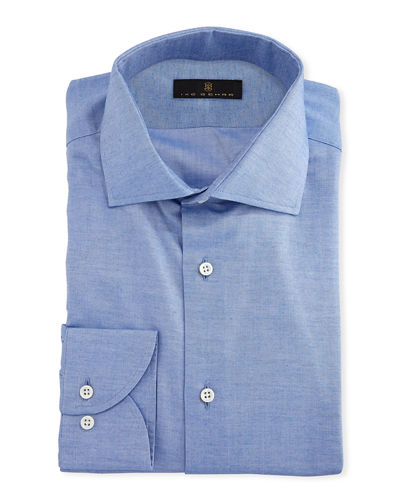 Ike Behar Gold Label Cotton-Cashmere Dress Shirt