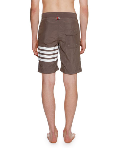 4-Bar Striped Swim Trunks