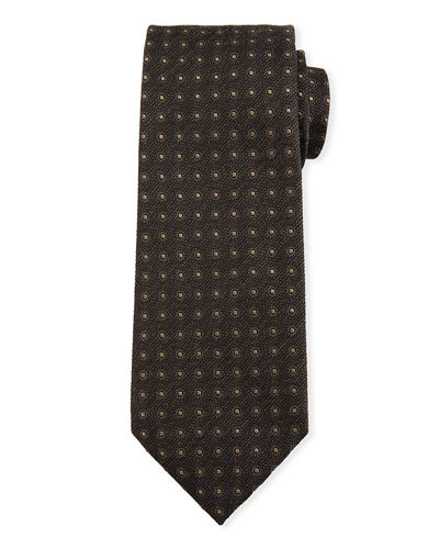 TOM FORD Neat Circle Silk-Wool Tie