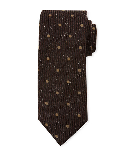 Vertical Striped Open Dot Tie